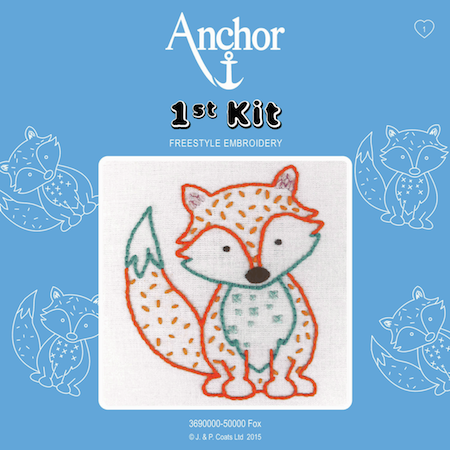 Anchor Embroidery 1st Kit: Fox