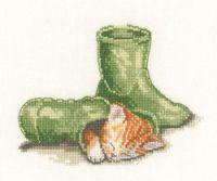 HC Little Darlings Puss In Boots Cross Stitch Kit