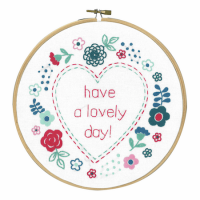 Vervaco Embroidery Kit with Ring Lovely Day