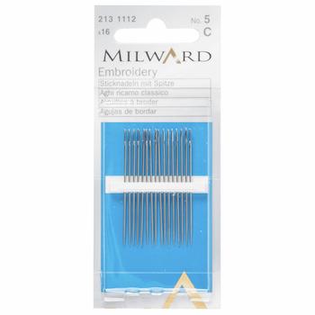 Milward Embroidery Needles Size 5