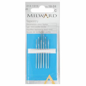 Milward Tapestry Needles Sizes 18/24