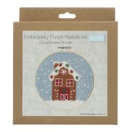 Embroidery Punch Needle Hoop Kit - Gingerbread House