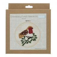 Embroidery Punch Needle Hoop Kit - Robin
