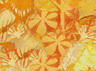 Quiting Treasures Cherish Orange Flowers