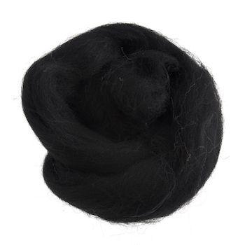 Wool Roving 10g Black