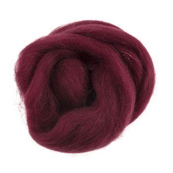 Wool Roving 10g Wine