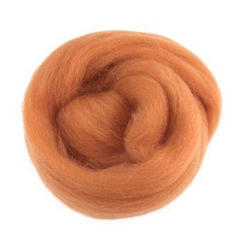Wool Roving 10g Orange
