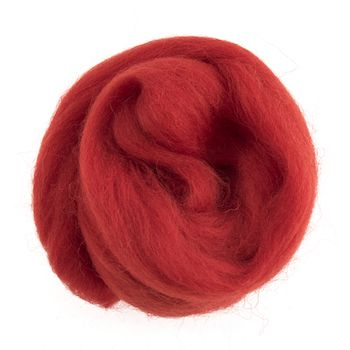 Wool Roving 10g Red