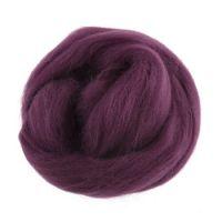 Wool Roving 10g Mauve