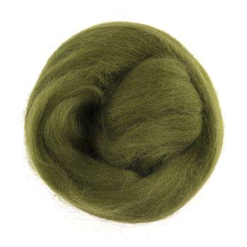 Wool Roving 10g Grass Green