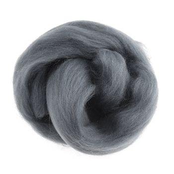 Wool Roving 10g Dark Grey