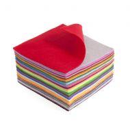 Felt Acrylic Squares Mixed Colours - 15 x 15cm - 42 Pieces