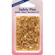 Safety Pins Value Pack Brass size 23mm