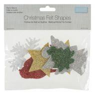 Glitter Felt Shapes - Christmas