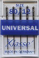 Klasse Sewing Machine Needles Universal 80/12