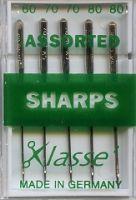 Klasse Sewing Machine Needles Sharps Assorted