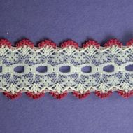 Knit-In Eyelet Lace Burgundy