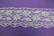 90mm Nylon Lace White Floral
