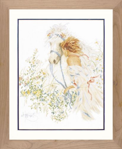 Horse and Flowers Counted Cross Stitch Kit by Lanarte