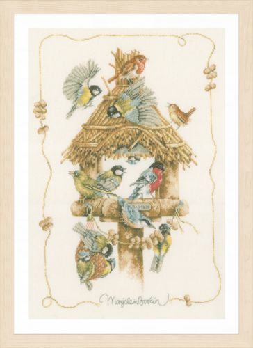 Birdhouse (Evenweave) Counted Cross Stitch Kit by Lanarte