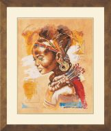African Woman Counted Cross Stitch Kit by Lanarte