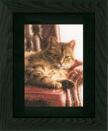 Relaxed Tabby (Aida,W) Counted Cross Stitch Kit by Lanarte
