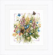 Summer Bouquet (Aida,W) Counted Cross Stitch Kit by Lanarte