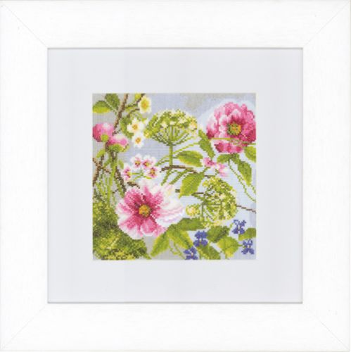 Peonies (Evenweave) Counted Cross Stitch Kit by Lanarte
