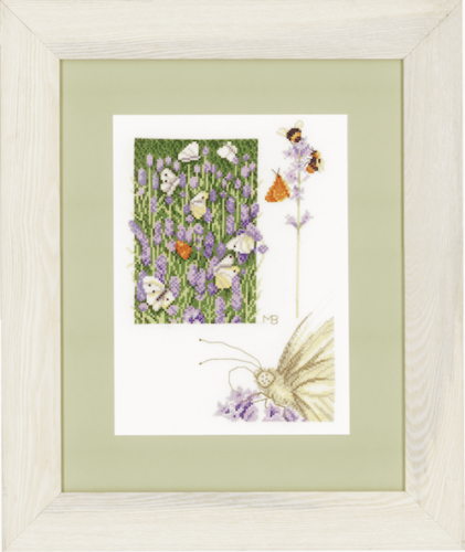 Lavender Field (Aida) Counted Cross Stitch Kit by Lanarte