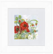 Poppies (Aida,W) Counted Cross Stitch Kit by Lanarte