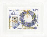 Lavender Wreath (Aida,W) Counted Cross Stitch Kit by Lanarte