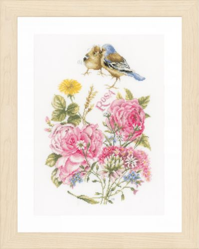 Finches: (Aida) Counted Cross Stitch Kit by Lanarte