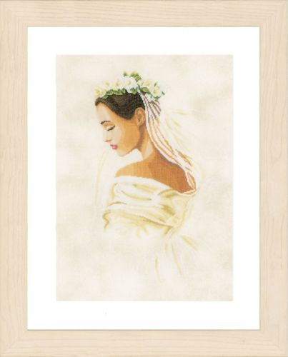 Bride (Linen) Counted Cross Stitch Kit by Lanarte