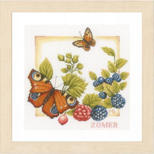 Summer (Evenweave) Counted Cross Stitch Kit by Lanarte