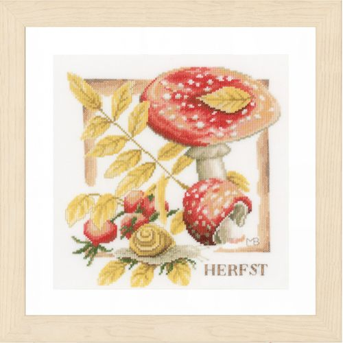 Fall (Evenweave) Counted Cross Stitch Kit by Lanarte