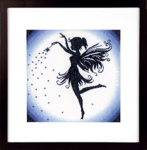 Enchanting Fairy (Aida) Counted Cross Stitch Kit by Lanarte