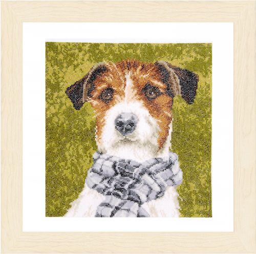 Dog Counted Cross Stitch Kit by Lanarte