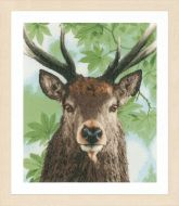 Proud Red Deer Counted Cross Stitch Kit by Lanarte