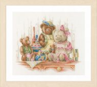 Bears and Toys (Aida) Counted Cross Stitch Kit by Lanarte