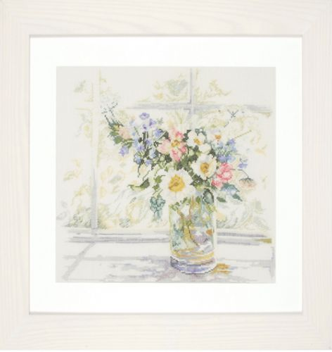 Bouquet of Flowers Counted Cross Stitch Kit by Lanarte
