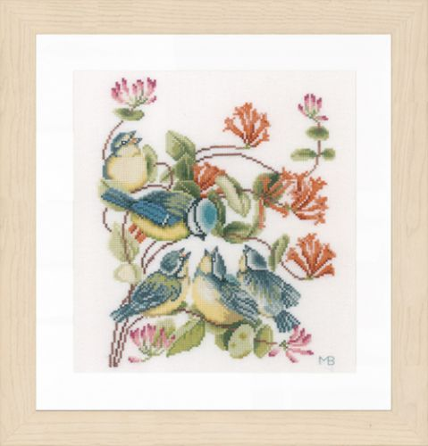 Chickadees (Evenweave) Counted Cross Stitch Kit by Lanarte