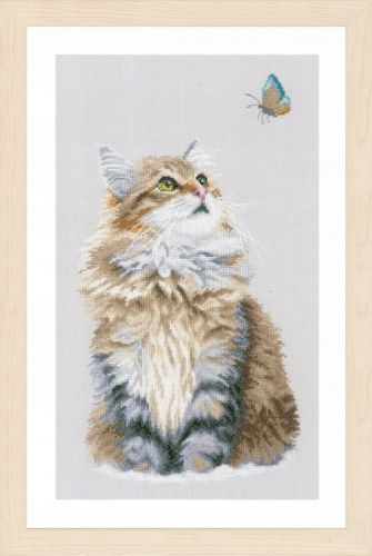 Forest Cat Counted Cross Stitch Kit by Lanarte
