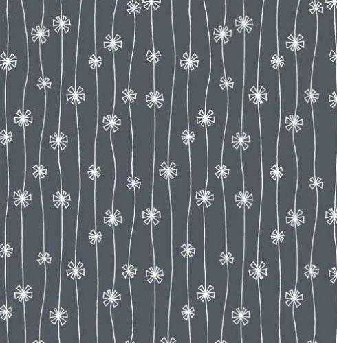 Makower Meadow Poppy Daisy Chain Navy