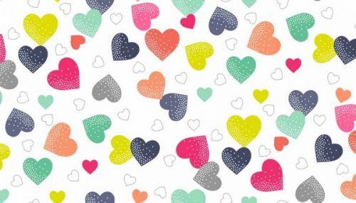 Makower Fantasy Hearts
