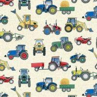 Village Life Tractor Cream