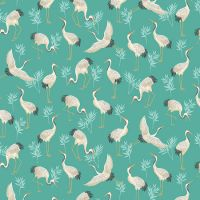 Michiko Cranes Turquoise