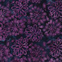 Island Batik Purple Blue Floral