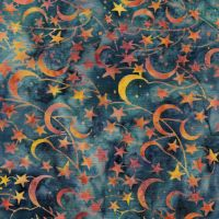 Island Batik Moon and Stars