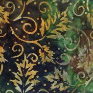 Moda Rising Tide Batiks Green/Gold Leaves