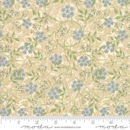 Moda  Morris Garden Blue Floral